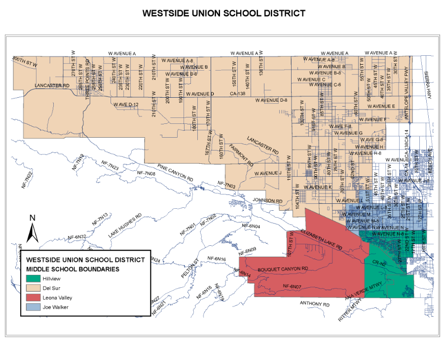 Maps Directions Westside Union School District - Us canyons boundary map